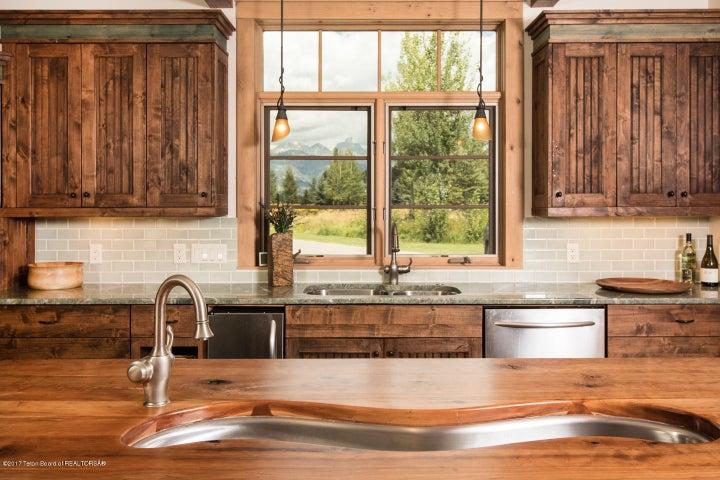 Teton views from the kitchen