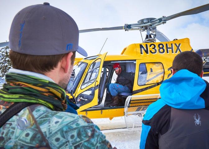 24. Heli-skiing