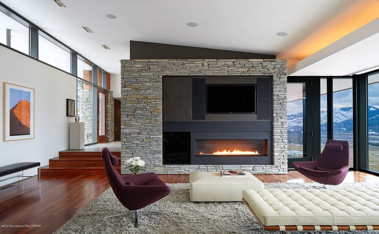 Great room Sparks fireplace