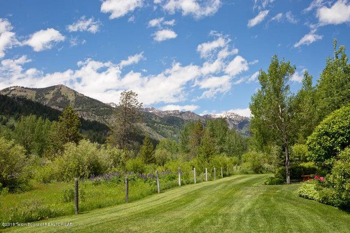 25 Rear Lawn + Mountains