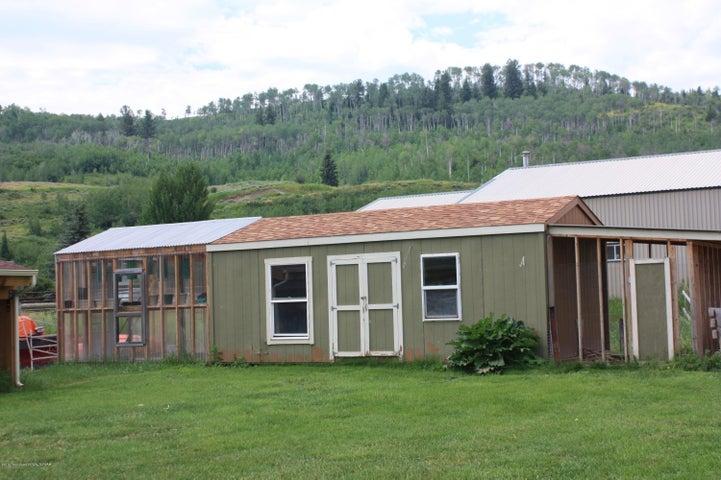 Chicken coop, greenhouse and storage