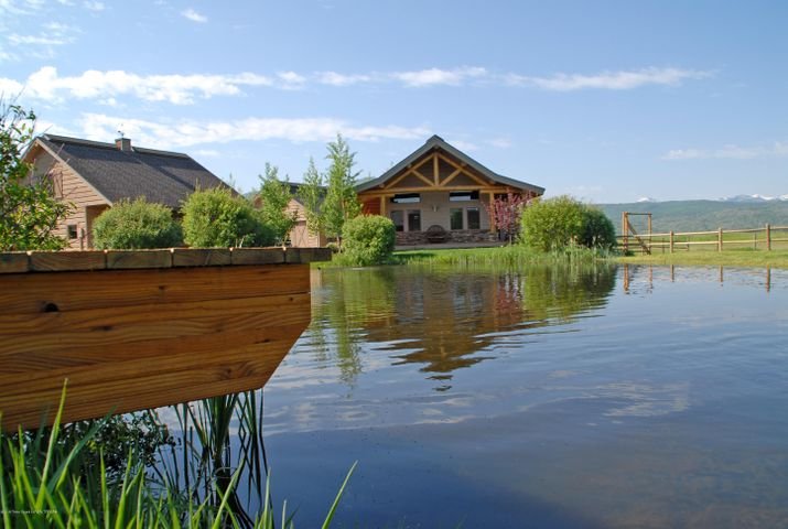 pond - dock - guesthouse
