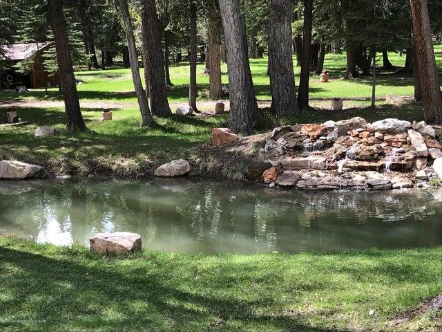 Scott pond and waterfall
