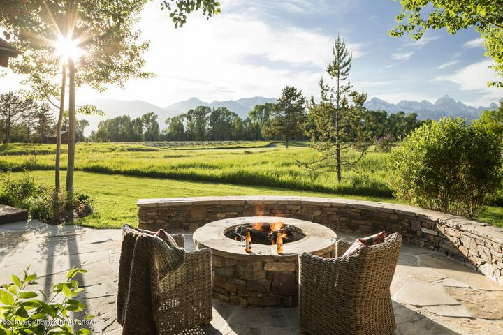 Outdoor Firepit with Teton Views