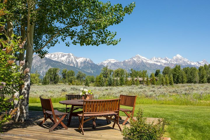 Patio and Tetons