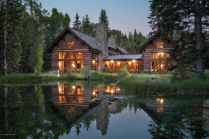 40. Exterior Back Pond Evening