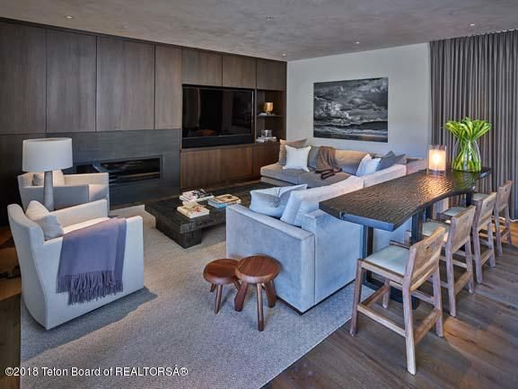 Theater Room with Wet Bar