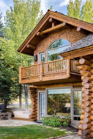 Log, Stone and Cedar Exterior