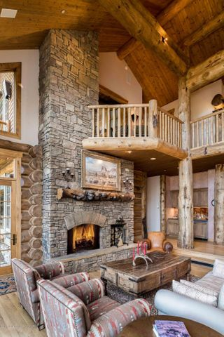 Stunning Wood Burning Fireplace