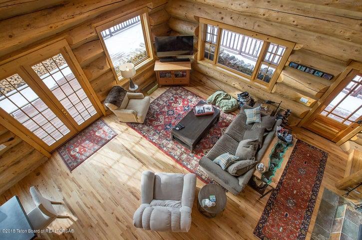 Weeks - Looking down on living room