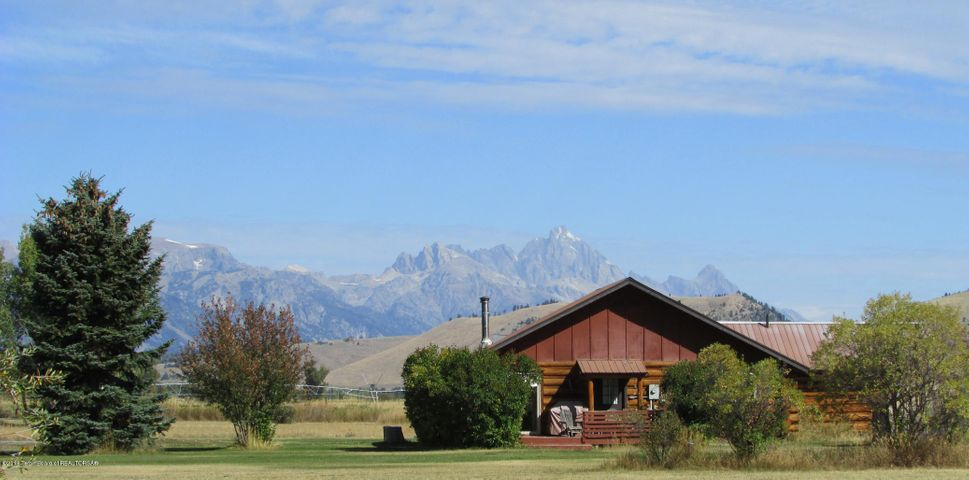 Home with view of Tetons