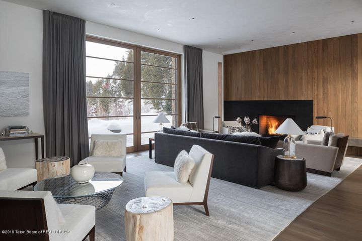Living Room with Winter Views