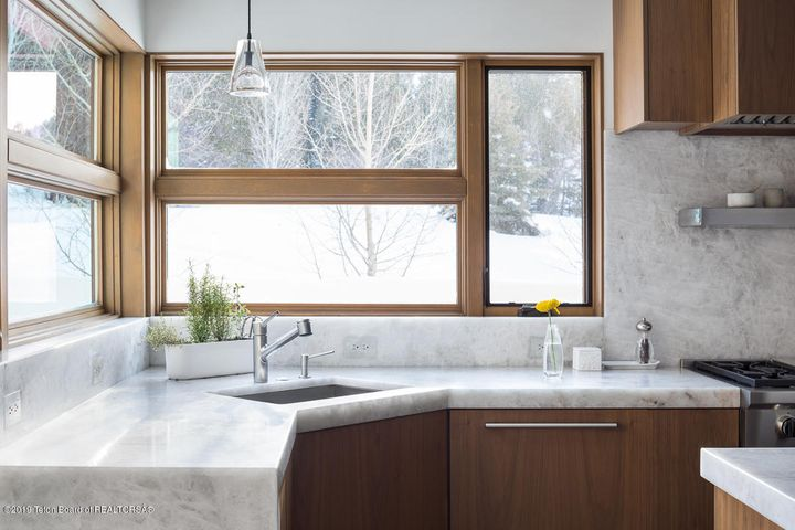 Kitchen With Winter Views
