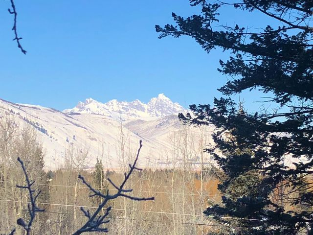 View of Teton from deck