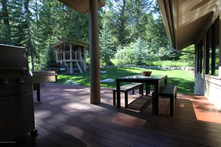 Back deck and tree house