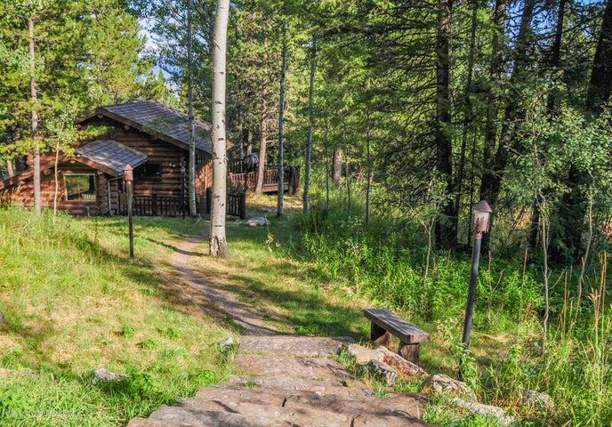 back of cabin - summer