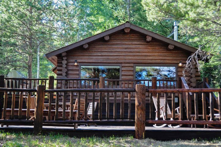 Front of cabin - summer