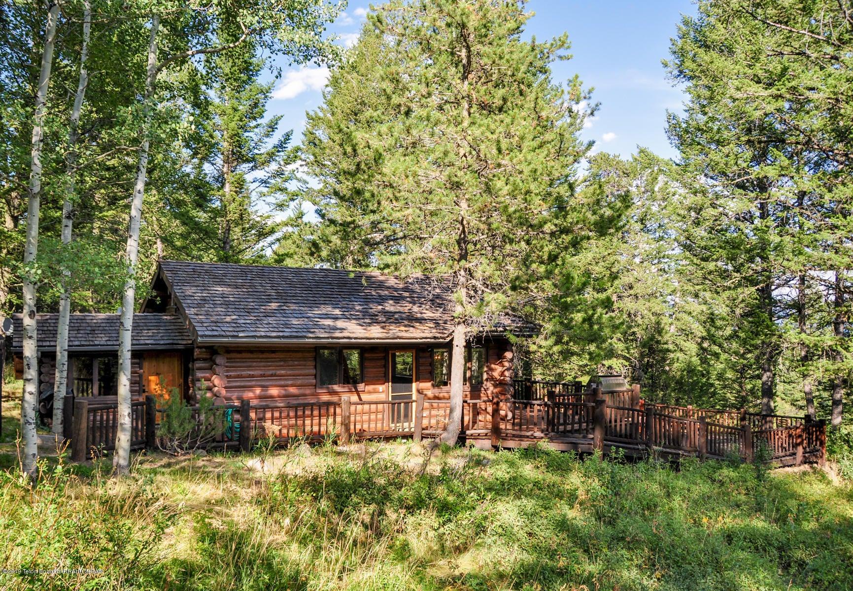 side of cabin - summer