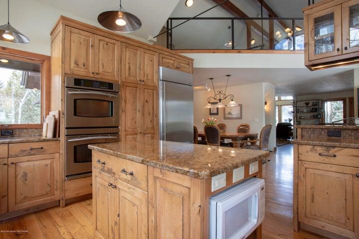 kitchen/ loft above