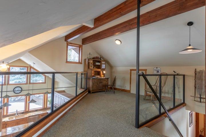 part of large loft area