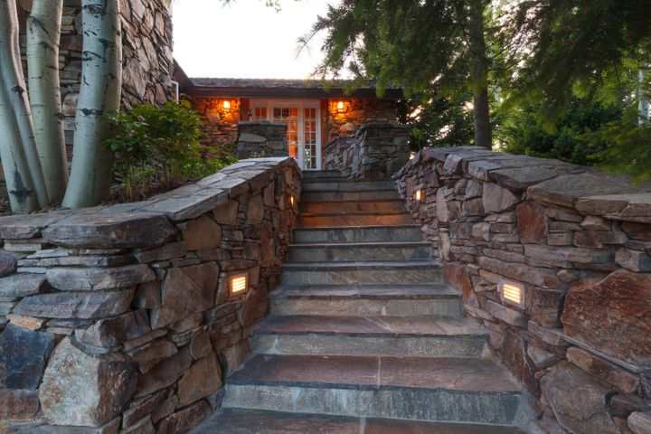 Stone Formal Entry Stairs