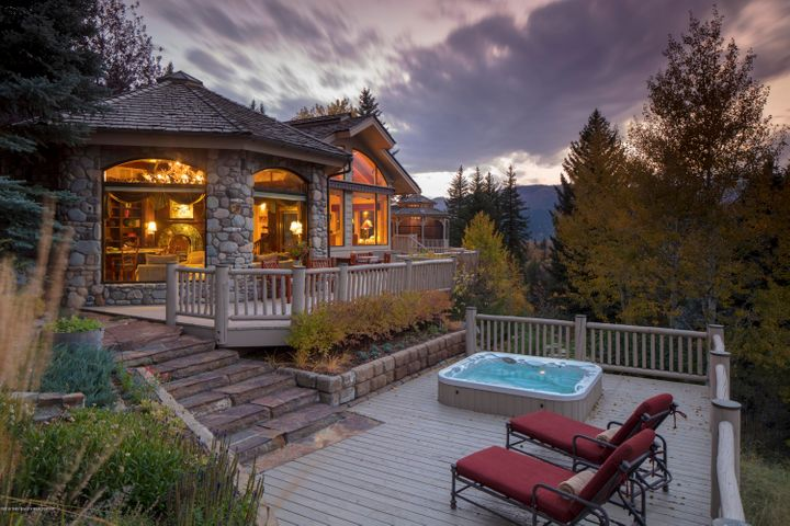Rear View House and Hot Tub