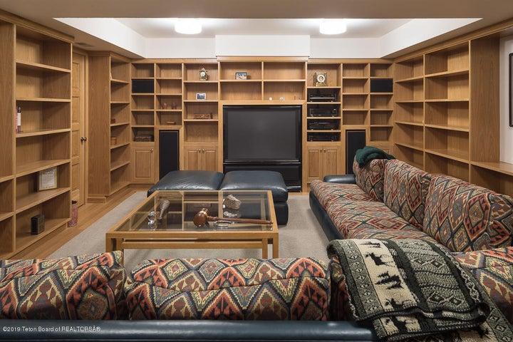 Downstairs media room