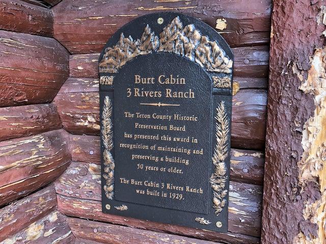 Burt cabin plaque