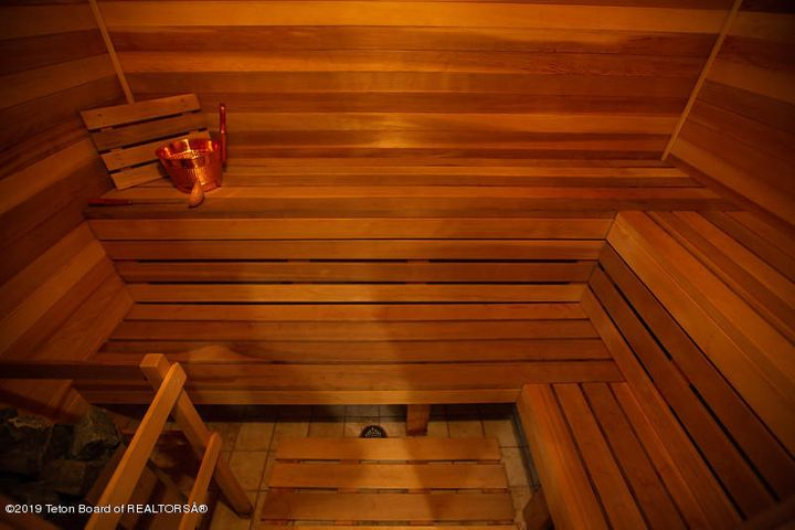 Sauna holds 7 people
