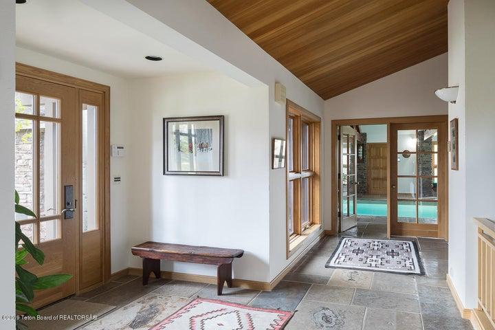 Hallway to pool