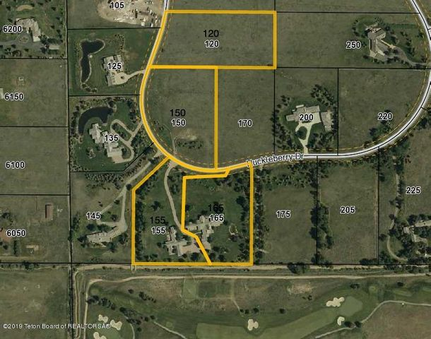 Aerial with four lots