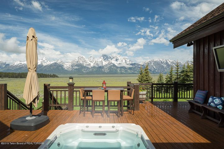 Back Deck with Hot Tub & Teton Views