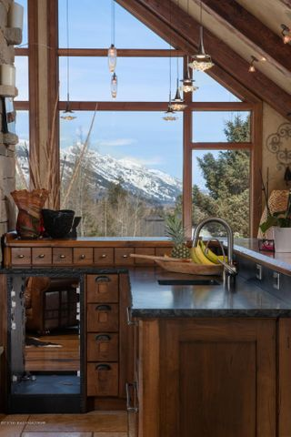 Grand Teton View From Kitchen