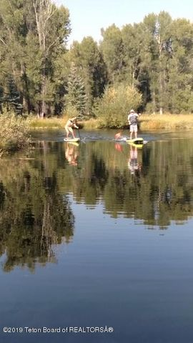 Paddle board races on the pond