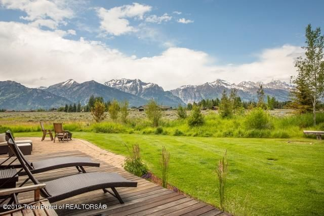 Back deck and Teton view