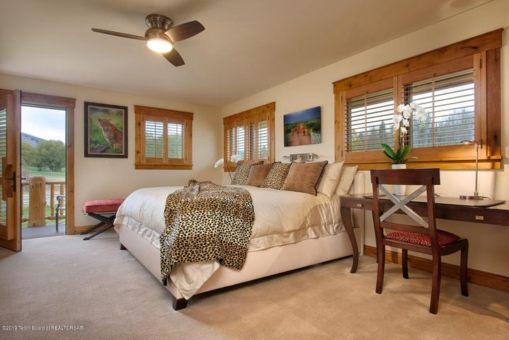 master bedroom w private deck