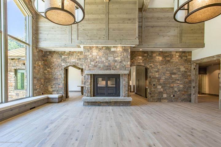 Great Room double sided fireplace