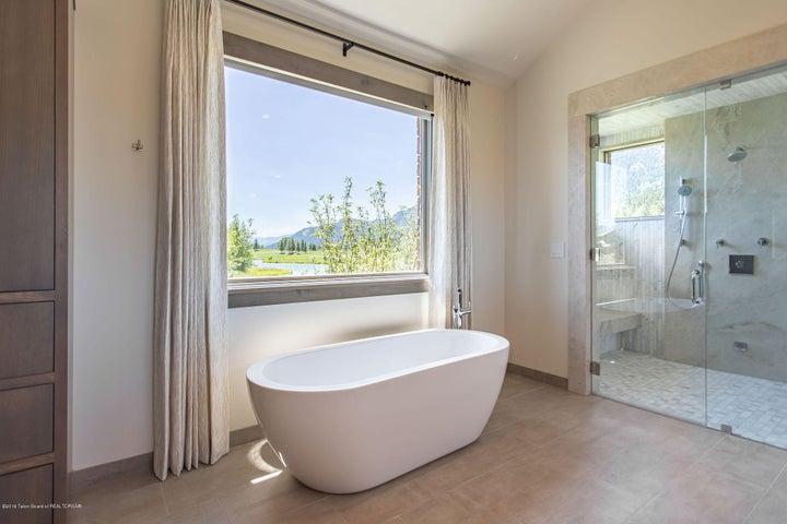 Master Bathroom Tub and Steam Shower