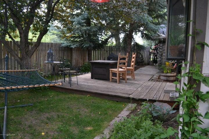 Cabin back yard
