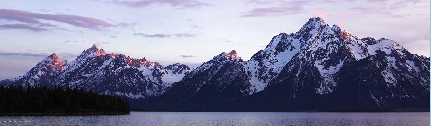 teton range with lake