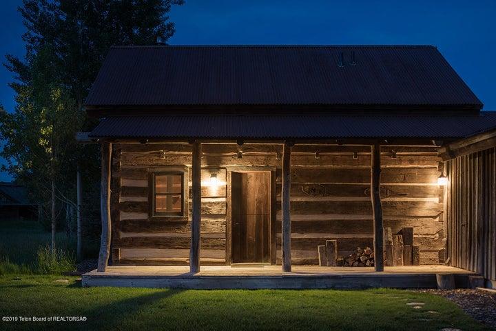 Antebellum Cabin at Dusk
