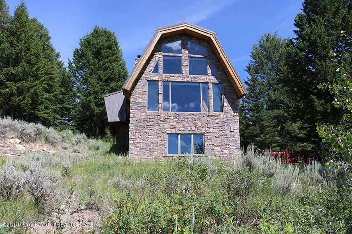 Exterior facing Tetons