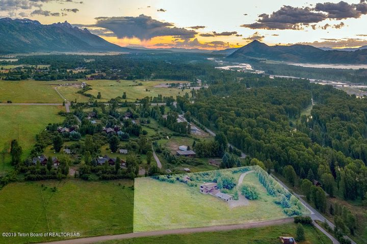 40 Dawn Drone of Highlighted Property +