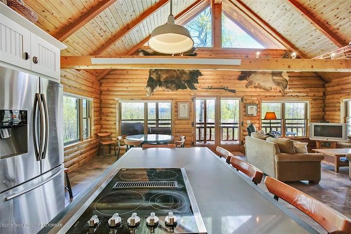 Kitchen to Dining Windows
