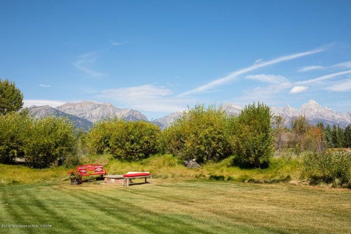 Backyard with Teton Views and firepit