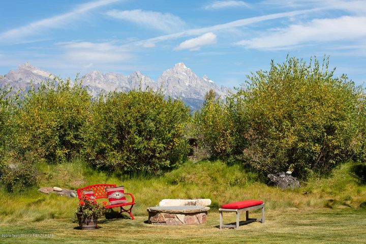Grand Teton View with firepit