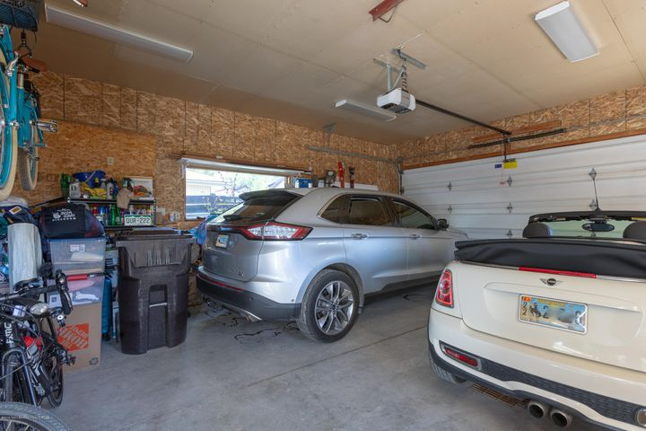 2 car heated garage