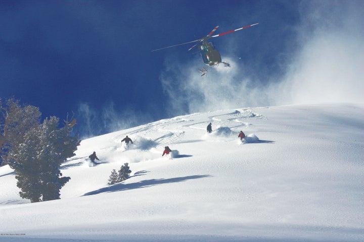 25. Heli-skiing near Wolf Mountain