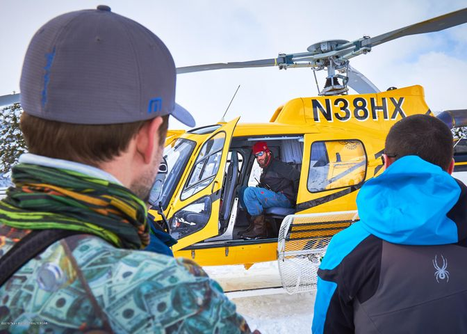 25. Heli-skiing