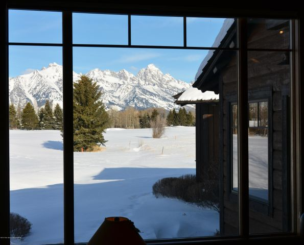 Great room Grand Teton view
